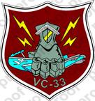 STICKER USN VC 33 COMPOSITE SQUADRON