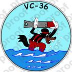 STICKER USN VC 36 COMPOSITE SQUADRON