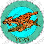 STICKER USN VC 79 COMPOSITE SQUADRON