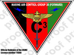 STICKER USMC MARINE AIR CONTROL GROUP 38 F