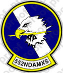 STICKER USAF 552ND AMXS