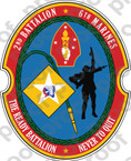 STICKER USMC UNIT   2ND BATTALION 6TH MARINE REGIMENT ooo Lisc# 20187