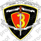 STICKER USMC UNIT   2ND BATTALION 3RD MARINE REGIMENT Lisc# 20187