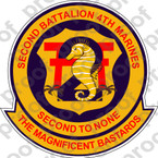 STICKER USMC UNIT   2ND BATTALION 4TH MARINE REGIMENT ooo Lisc# 20187
