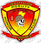 STICKER USMC UNIT   2ND BATTALION 9TH MARINE REGIMENT B ooo Lisc# 20187