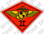 STICKER USMC UNIT   2ND MARINE AIRWING A ooo Lisc# 20187