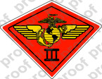 STICKER USMC UNIT   3RD MARINE AIRWING A ooo Lisc# 20187