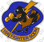 STICKER USAF 104TH FIGHTER SQUADRON A