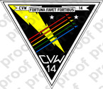 STICKER USN CARRIER AIR WING CVW 14