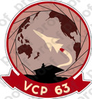 STICKER USN VCP 63  Composite Squadron Photographic