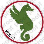 STICKER USN VCS 3  Composite Squadron Scout