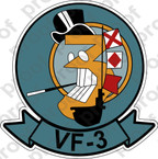 STICKER USN VF 3 FIGHTER SQUADRON
