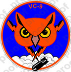 STICKER USN VC 9 FLEET COMPOSITE SQUADRON