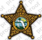 STICKER SHERIFF FLORIDA HARDEE COUNTY BRZ