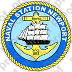 STICKER USN US NAVY STATION NEWPORT