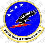 STICKER USAF 556TH TEST AND EVALUATION SQUADRON