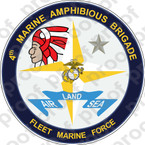 STICKER USMC 4th MAB MARINE AMPHIBIOUS BRIGADE