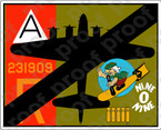 STICKER MILTARY AIRCRAFT B17 NINE O NINE DOWN V3