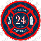 STICKER CIVIL FIRE DEPT MELROSE