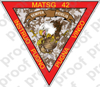 STICKER USMC UNIT MATSG 42           USMC LISC NUMBER 20187