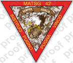 STICKER USMC UNIT MATSG 42           USMC LISC NUMBER 19172
