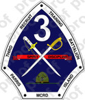 STICKER USMC 3RD RECRUIT TRAINING BATTALION           USMC LISC NUMBER 20187
