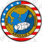 STICKER NASA APOLLO MISSION  1