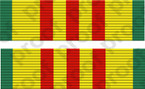 STICKER MILITARY RIBBON VIETNAM SERVICE