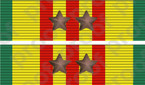 STICKER MILITARY RIBBON VIETNAM 2 STARS