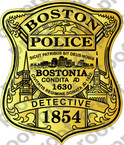 STICKER BOSTON POLICE BADGE DETECTIVE