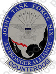 STICKER MILITARY JOINT TASK FORCE SIX