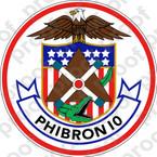 STICKER USN Amphibious Squadron PHIBRON 10