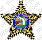 STICKER SHERIFF MARTIN COUNTY