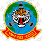 STICKER USMC VMM 262 FLYING TIGERS A  ooo  USMC LISC NUMBER 19172