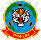 STICKER USMC VMM 262 FLYING TIGERS B  ooo  USMC LISC NUMBER 19172