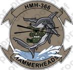STICKER USMC HMH 366 HAMMERHEAD  ooo  USMC LISC NUMBER 19172