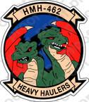 STICKER USMC HMH 462 HEAVY HAULERS B ooo  USMC LISC NUMBER 19172
