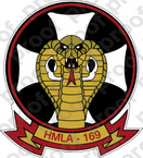 STICKER USMC HMLA 169 VIPERS B ooo  USMC LISC NUMBER 20187