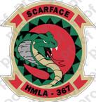 STICKER USMC HMLA 367 SCARFACE COL ooo  USMC LISC NUMBER 19172