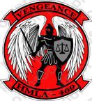STICKER USMC HMLA 469 VENGEANCE ooo  USMC LISC NUMBER 19172