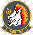 STICKER USMC HMH 461 IRONHORSE B COL ooo  USMC LISC NUMBER 20187