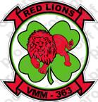 STICKER USMC VMM 363 RED LION ooo  USMC LISC NUMBER 19172