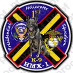 STICKER USMC HMX 1 Presidential K9   ooo  USMC LISC NUMBER 19172