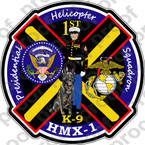 STICKER USMC HMX 1 Presidential K9 Dress Blues   ooo  USMC LISC NUMBER 20187