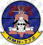STICKER USMC HMH 772 THE HUSTLERS   ooo  USMC LISC NUMBER 20187