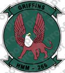 STICKER USMC HMM 266 GRIFFINS COL   ooo  USMC LISC NUMBER 19172