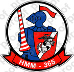STICKER USMC HMM 365 BLUE KNIGHTS   ooo  USMC LISC NUMBER 20187