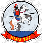 STICKER USMC HMM 764 MOONLIGHT A   ooo  USMC LISC NUMBER 20187