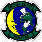 STICKER USMC HMM 764 MOONLIGHT B   ooo  USMC LISC NUMBER 20187