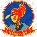 STICKER USMC HMM 265 DRAGONS B   ooo  USMC LISC NUMBER 20187